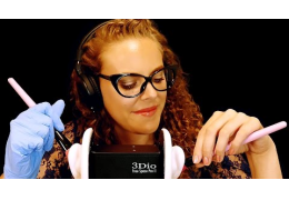 Awesome ASMR 3Dio Ear Cleaning