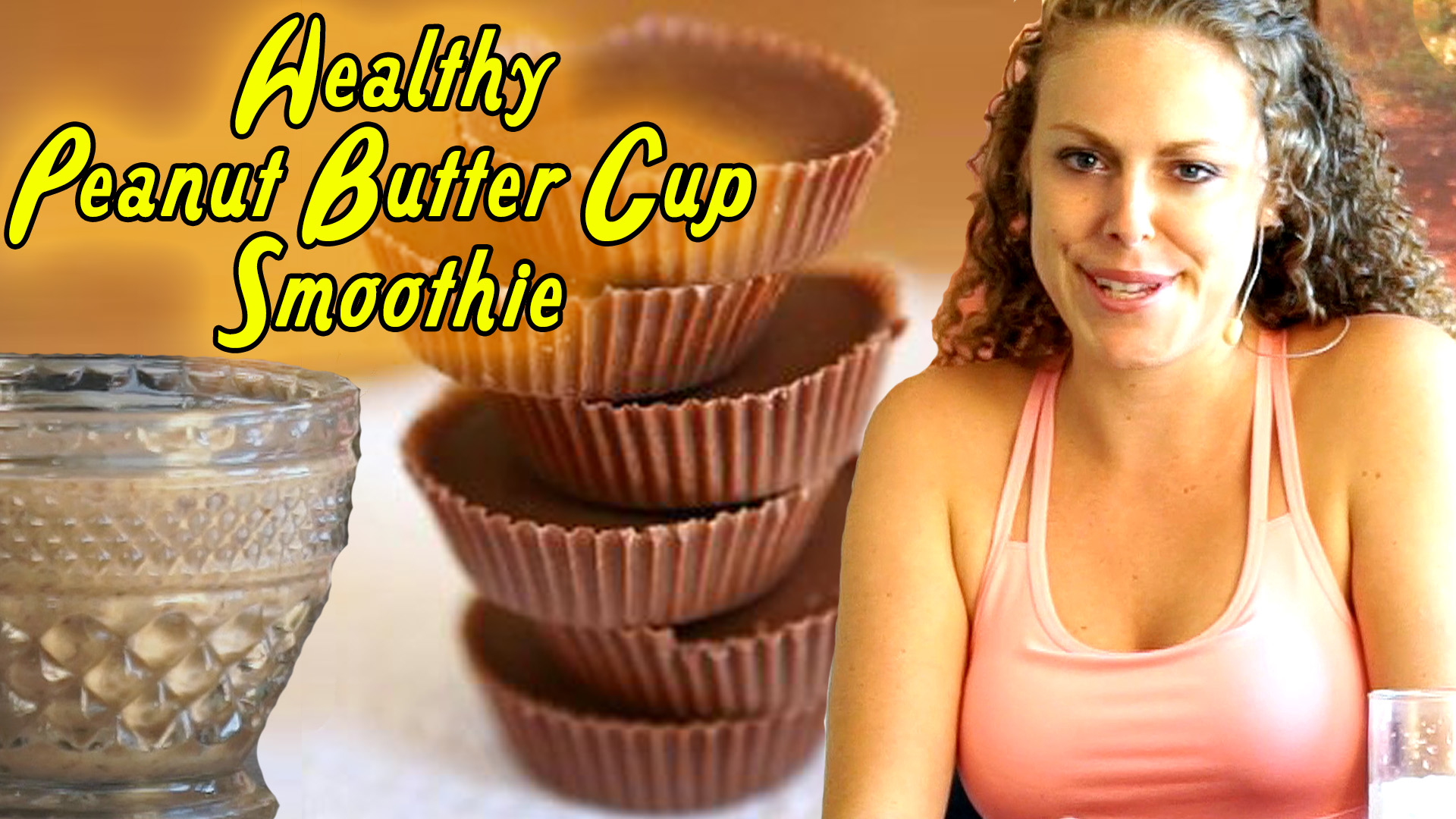 Healthy Breakfast Smoothie: Chocolate Peanut Butter Cup!